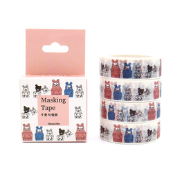 Box pakiet Kawaii zabawki niedźwiedź taśma maskująca taśma Washi dekoracyjne biuro Scrapbooking klej naklejka do zrobienia w domu taśma z etykietami 10 m * 15mm