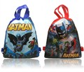 2pcs Batman Hot Cartoon Drawstring Backpack Bags 34*27CM Non-Woven Fabric Multipurpose Bags Kids Party Gifts,School Furniture