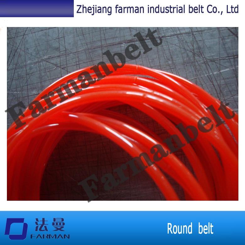 High Performance PU Smooth Round Belt Orange Round Belt