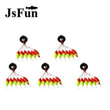 5set=30pcs 6 in 1 Cylinder Space Beans Stopper For The Float Fishing Tackle Water Fishing Floats Bobbers Sinker Light Stick L145