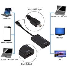 Micro USB Ke HDMI Adaptor untuk MHL Converter untuk TV Monitor 1080P HD HDMI Audio Video Kabel huawei Xiaomi dengan MHL(China)