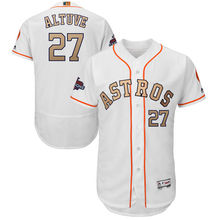 MLB Houston Astros Jose Altuve Majestueux Blanc 2018 Or Programme Flex Base  de Lecteur Hommes Baseball Jersey