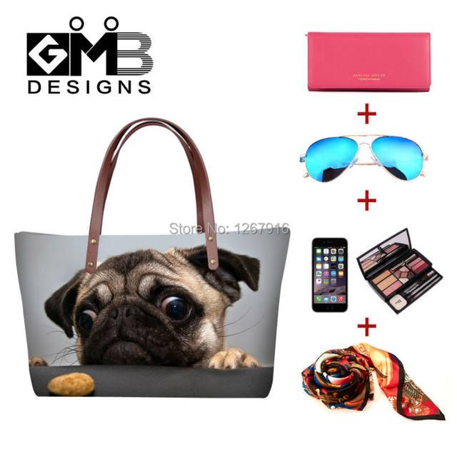 54220c5a4d9d Girls Lightweight Neoprene Cute Portable Big Bags Ladies Totes Travel Hand  Bags Dog 3D Printed Shoulder Handbags Bolas Feminina-in Shoulder Bags from  ...