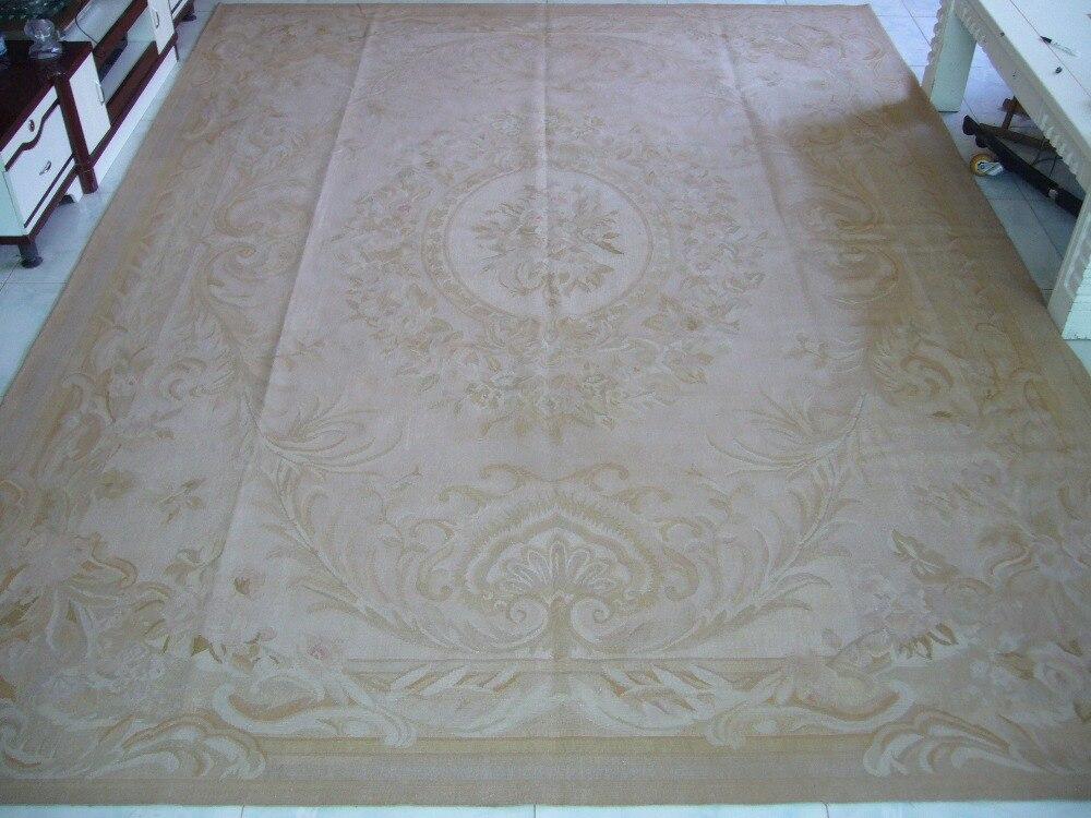Livraison gratuite 9'x12 'aubusson tapis faits à la main tapis en laine pour tapis de salon de haute qualité