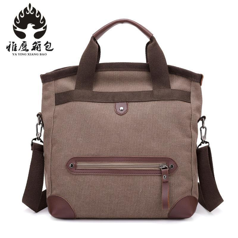 2018 Brand Men Fashion Canvas Crossbody Bag Small S Shoulder Business Leather Messenger Casual Man Bags