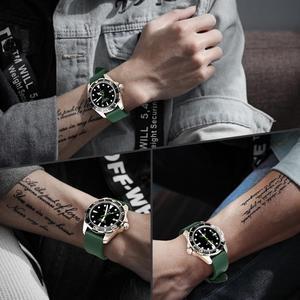 Image 3 - Maikes pulseira de relógio, pulseira de relógio de borracha 20mm 22mm 24mm fluoro, acessórios de pulseira de relógio para huawei gt seiko relógio de cidadão