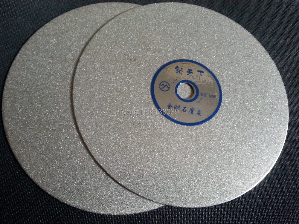 6 Inch Diamond Flat Polishing Lap Discs For Lapidary , Polishing Tools Grit #180