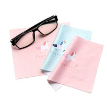 5pcs/lot Glasses Cloth Pink/Blue Unicorn Microfiber Cleaning Optical Lens Camera Mobile Phone Screen Cleaning Cloth 170*140(China)