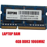 4GB 2Rx8 PC3 8500S 1066MHz DDR3 4gb 1066 MHz Laptop Memory 4G pc3 8500 Notebook 204 PIN SODIMM RAM