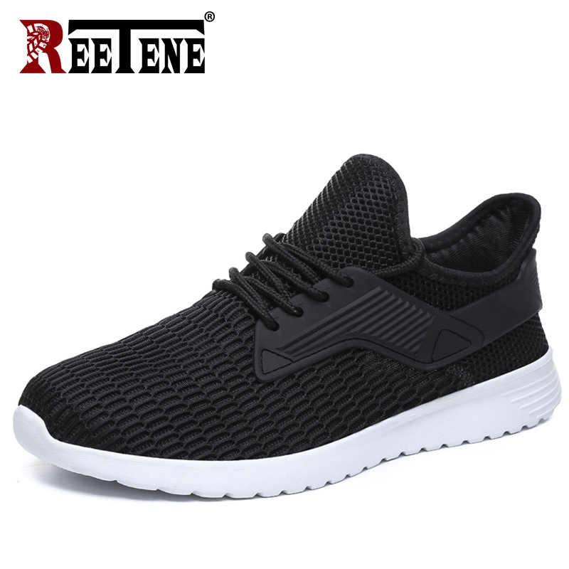 Reetene обувь мужские кроссовки 2018 лето осень кроссовки мужские беговые кроссовки Zapatillas Deportivas Hombre дышащая повседневная обувь для мужчин