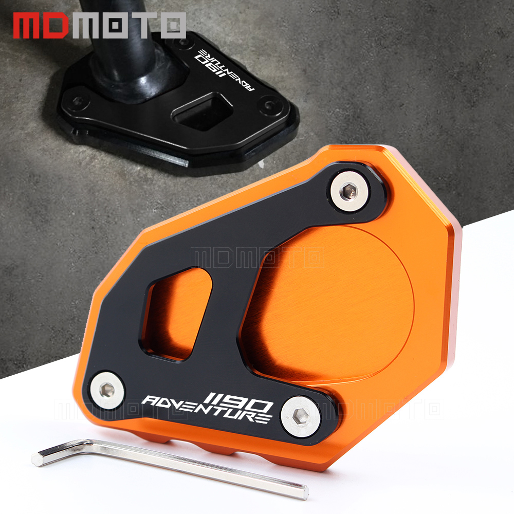 For KTM 1050 1090 1190 1290 Adventure Motorcycle Side Stand Kickstand Sidestand Extension Plate Pad For KTM 1190 1290 1090 Adv