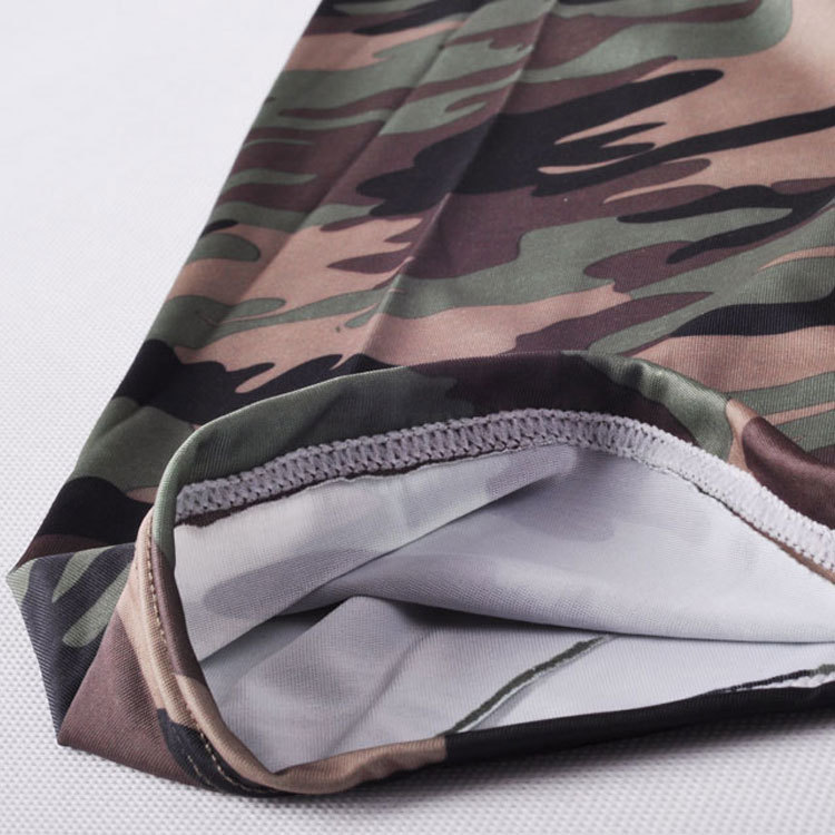 camouflage mens cargo pants fashion sexy camouflage dress camouflage Male Middle Pants Elastic Waist Design  M02-2 21