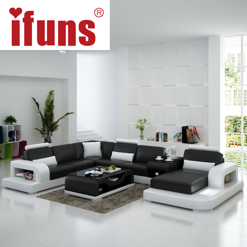 Buy ifuns modern design u shaped quality for U shaped living room design