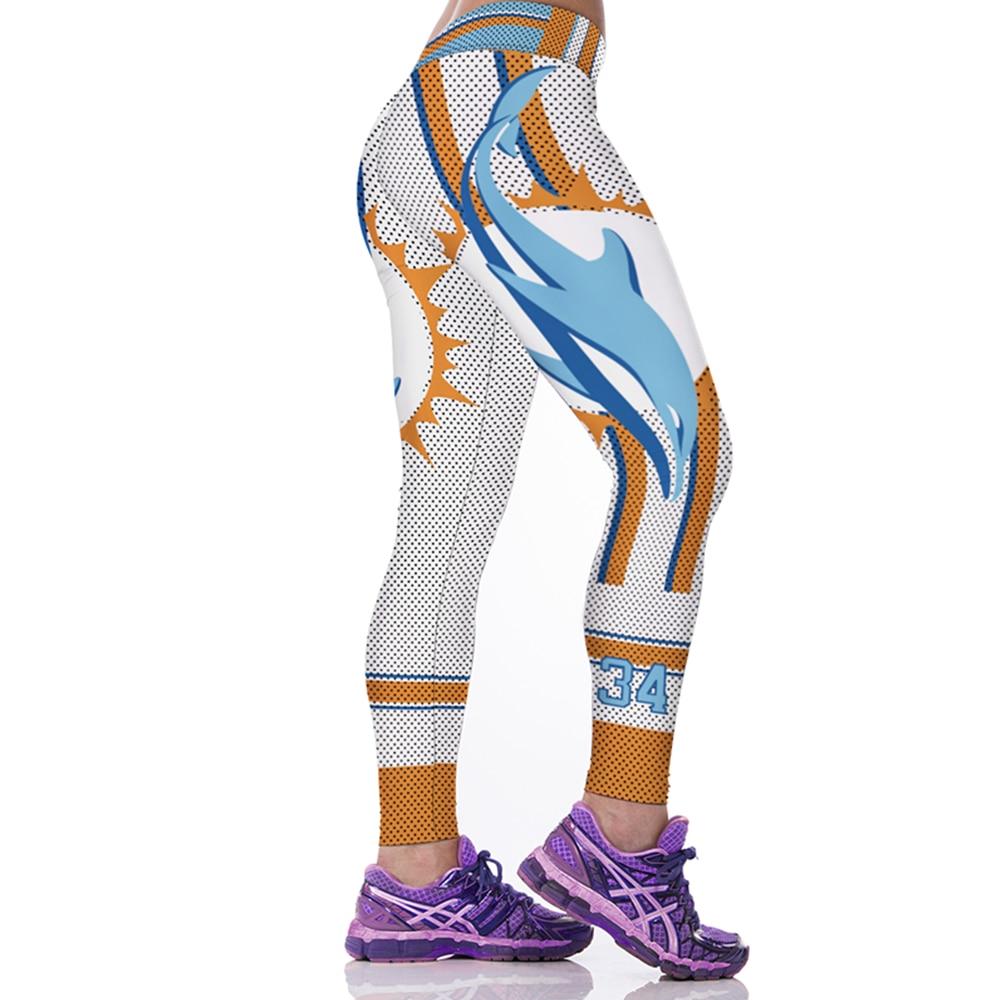 Woman Sport Leggings Dolphin 3D Print Skinny Quick Dry High Waist Capris Elastic Gym Workout Pants Slim Fitness Jogging Jeggings
