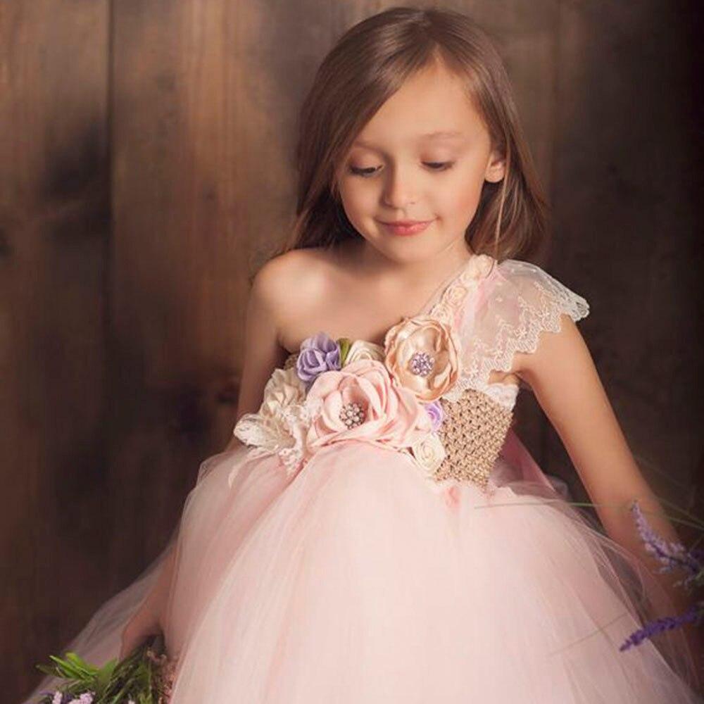 Lilacs Toddler Girl Christmas Tutu Dress Girls Frock Children Nova Ankle Length Lace One Shoulder Dress Kids Costume Princess 8T (8)