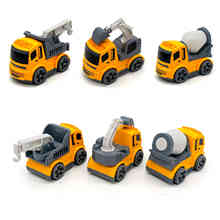 Cartoon Engineering Vehicles 3 Styles Mini Truck Excavator Trailer Truck Mixer Truck Baby Inertia Toy Car Early Educational Toy children inertia toy car simulator ladder truck firetruck