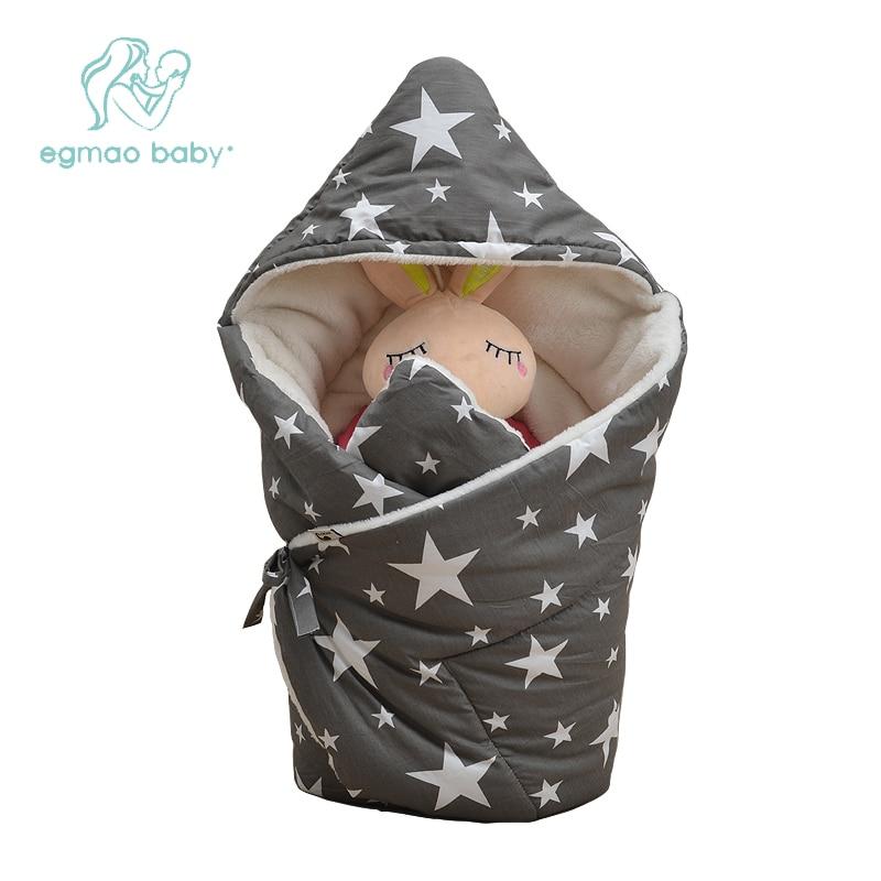 Baby Swaddle 85*85cm Baby Blanket Thick Winter Warm Berber Fleece Envelopes For Newborns Infant Wrap Baby Bedding Sleeping