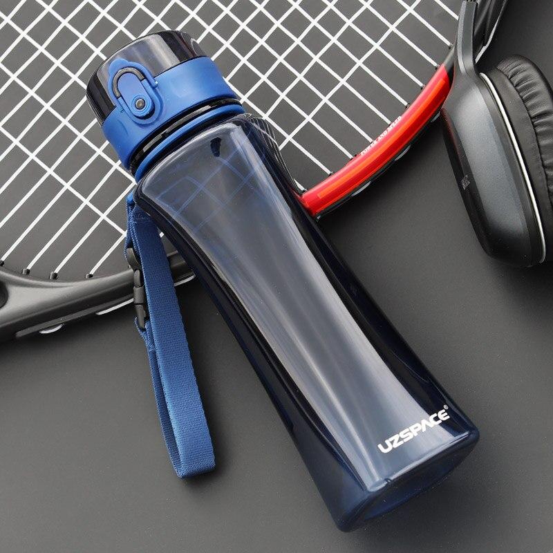 UZSPACE 350ml 500ml Sports Water Bottle Plastic Portable leakproof Outdoor Tour Shaker Drink My bottle for Water Tritan BPA Free-in Water Bottles from Home & Garden on AliExpress