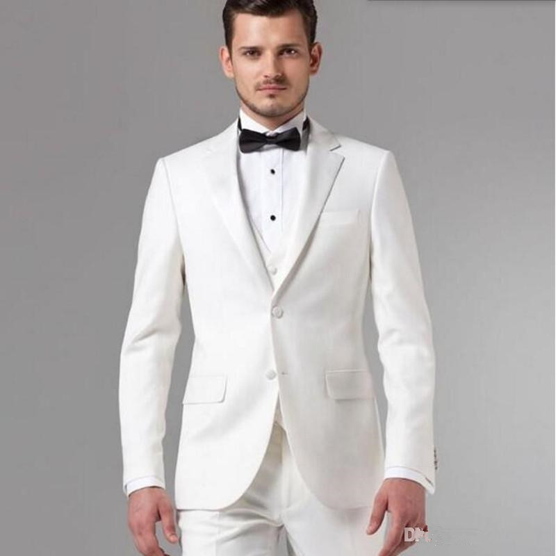 Costume Homme White Groom suits Tuxedos Tailor Men Suit Latest ...