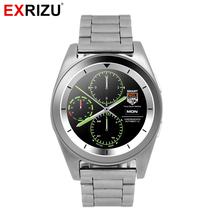 EXRIZU HD Round Smart Watch MTK2502C Bluetooth Smartwatch Heart Rate Monitor Men Sport Business Watches for Andriod iOS iPhone