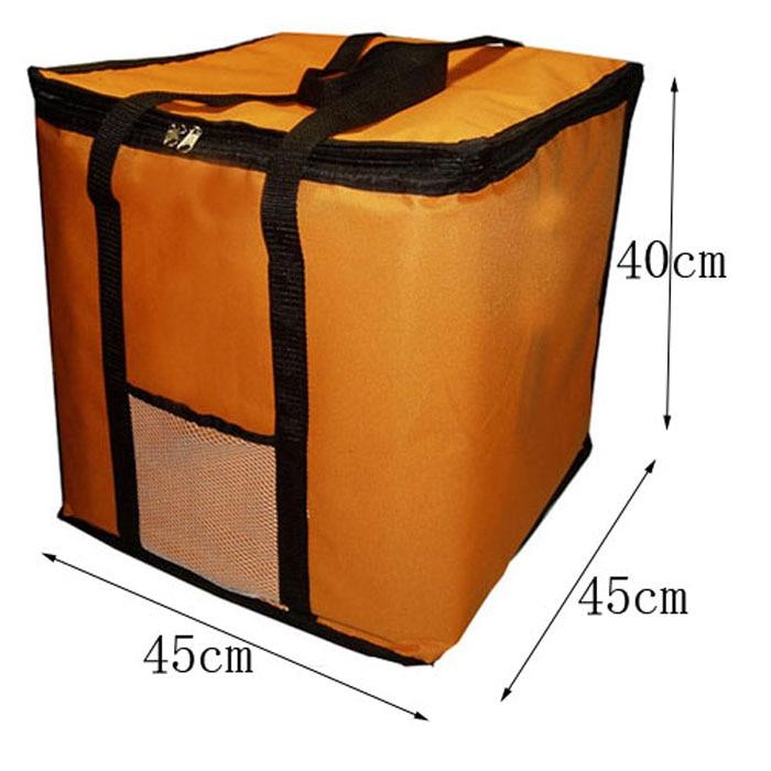 14 pouces grand sac à pizza thermique sac isotherme épais sac de stockage de pizza frais conteneur de livraison de nourriture 45x45x40 cm