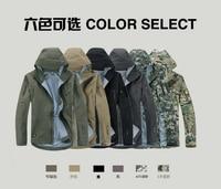 Camouflage Hunting Jacket Lurker Shark Skin Soft Shell V4 Outdoor Military Tactical Jacket Men Waterproof Windproof