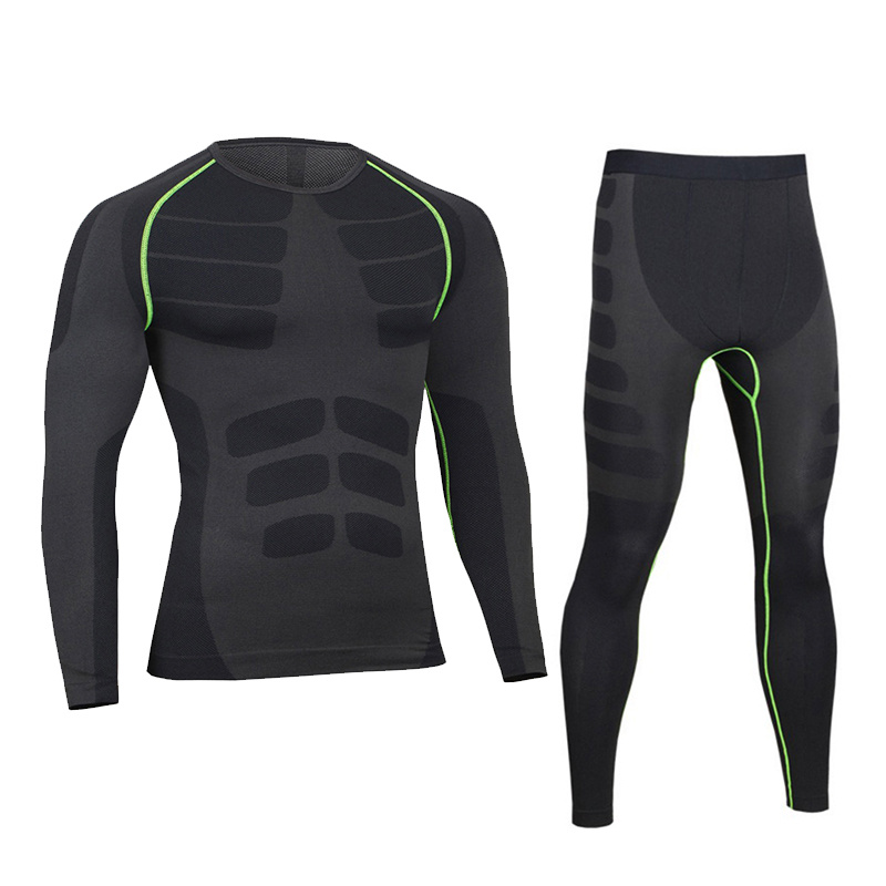 Winter Thermal Underwear Sets Men Long John Brand Quick Dry Anti-microbial Stretch Men's Thermo Underwear Male Warm 2019 New(China)