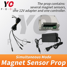 Magnet sensor simultaneous version Escape Room Prop four magnet Same time to release YOPOOD Takagism game puzzles open magnetic