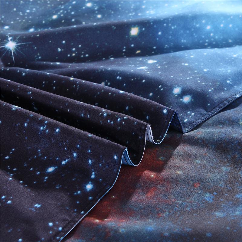 iDouillet 3D Nebala Outer Space Star Galaxy Bedding Set 2/3/4 pcs Duvet Cover Flat Sheet Pillowcase Queen Twin Size 19