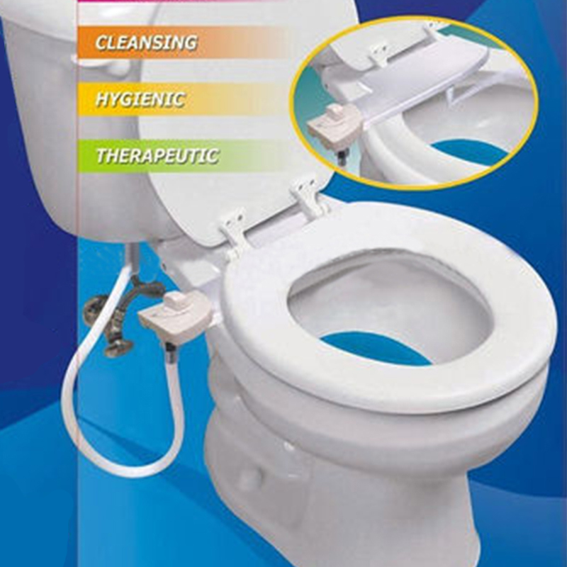 Toilet Seat Bidet. Luxurious and Hygienic Eco-friendly And easy to Install High-tech Seat Bidet. Portable Bidet Shower цены