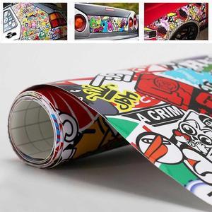 Image 2 - Panda Cartoon Graffiti Car Sticker Bomb Wrap Sheet Decal Sticker New