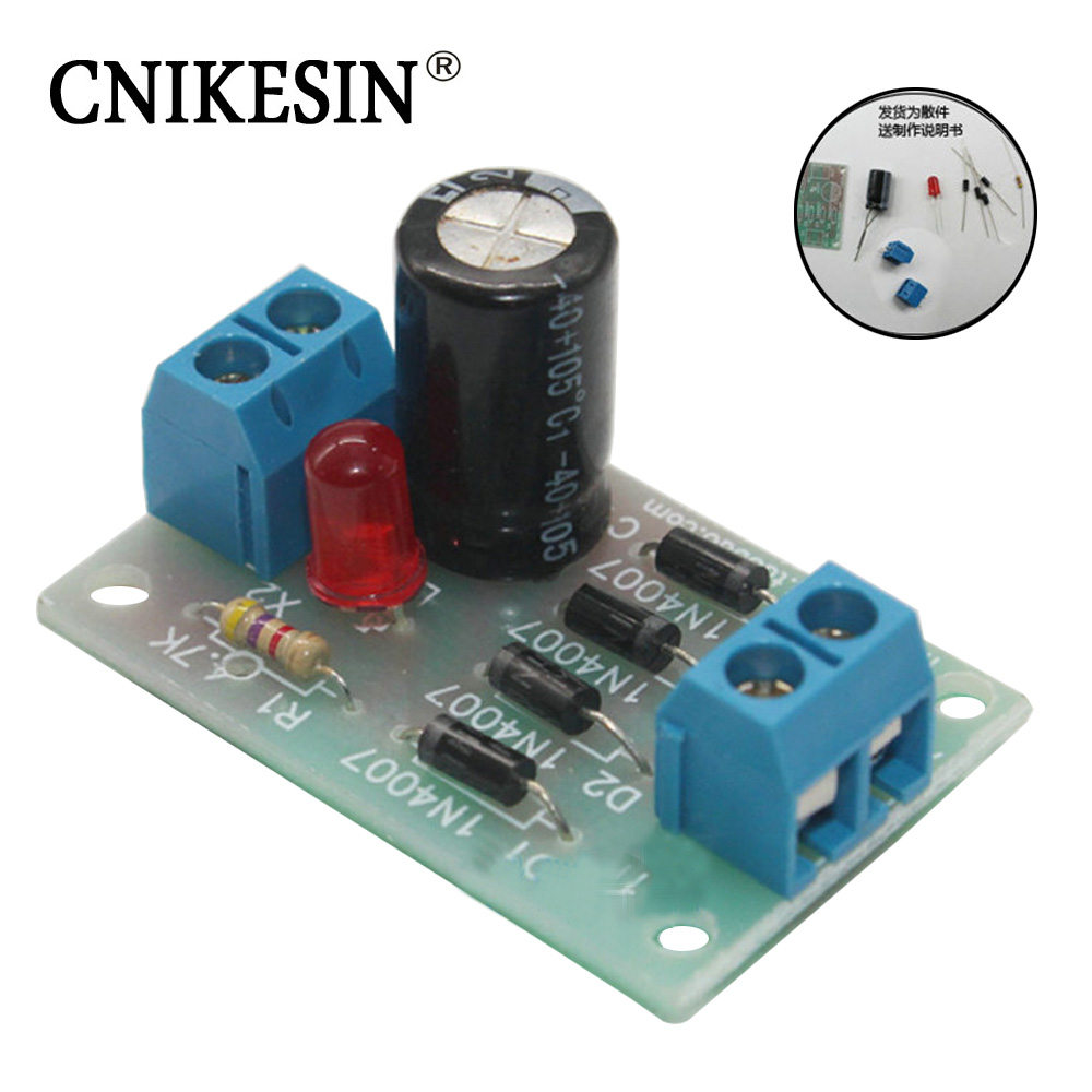 CNIKESIN DIY kit Bridge Rectifier font b Electronic b font Production Suite to Assemble The parts