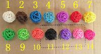 200pcs/bag Christmas tree decorative rattan ball,Wedding and home ornament craft ball 2.5 cm Free shipping 14 colors to choose