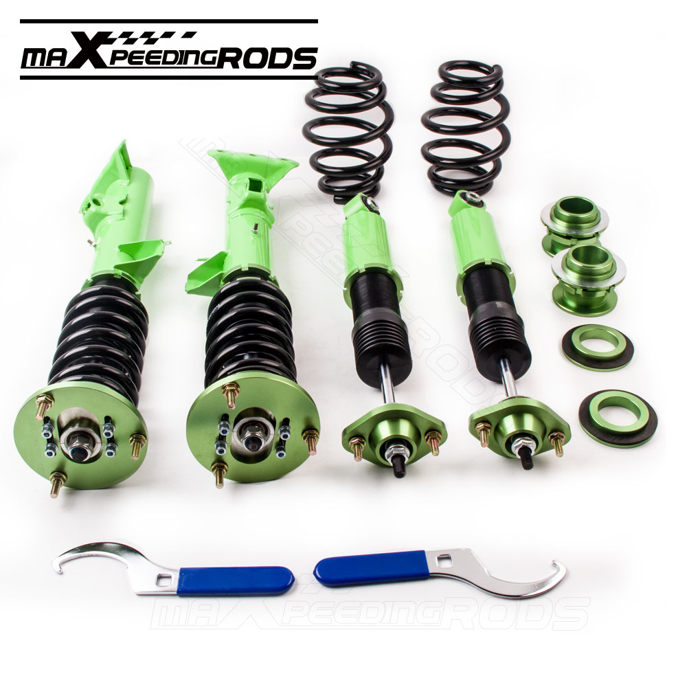 Aliexpress com buy green racing absorber coilover shock suspension for bmw e36 m3 316 318 320 323 325 93 99 3 serie struts coilovers shocks spring from