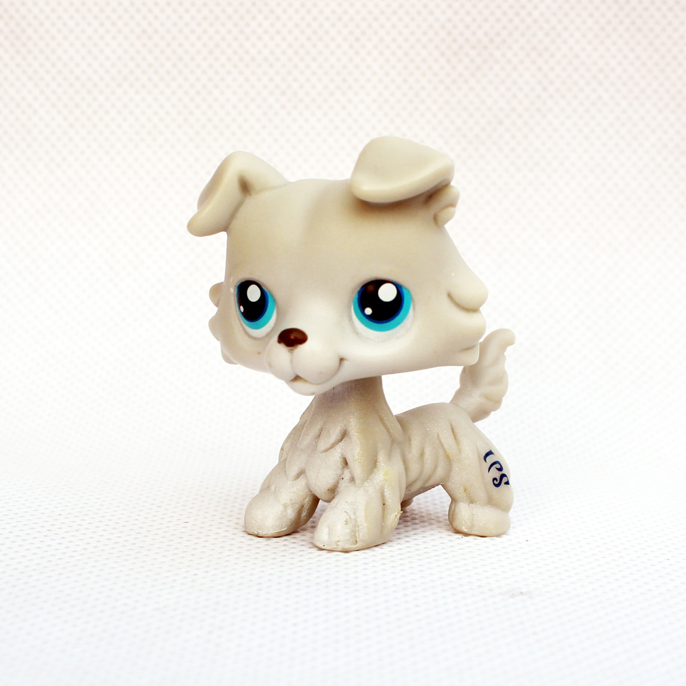 Cute toy action figure Rare Animal pet shop lps collie #363 little white dog with blue eyes old original