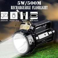 New 500M Super bright Rechargeable LED Candle Work Light Torch Spotlight Hand Lantern Lamp Waterproof Emergency Flash light