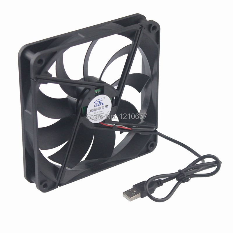 2 Pieces lot USB Computer PC Case Cooling Fan 14CM 140mm x 25mm Model 14025 DC 5V new 3u ultra short computer case 380mm large panel big power supply ultra short 3u computer case server computer case