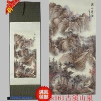 Antico Primavera Creek modello di seta decorazione della pittura di scorrimento pittura Cinese caratteristiche e il nuovo regalo speciale all'ingrosso