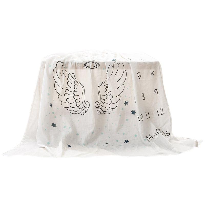 Baby Blankets Newborn Monthly Milestone Blanket Cotton Baby Milestone Blanket Shower Gifts For Newborn Boy & Girl