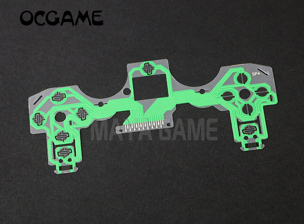 OCGAME 500pcslot for playstation 4 controller green Conductive Film for PS4 Keypad Flex Cable PCB Circuit Ribbon Film