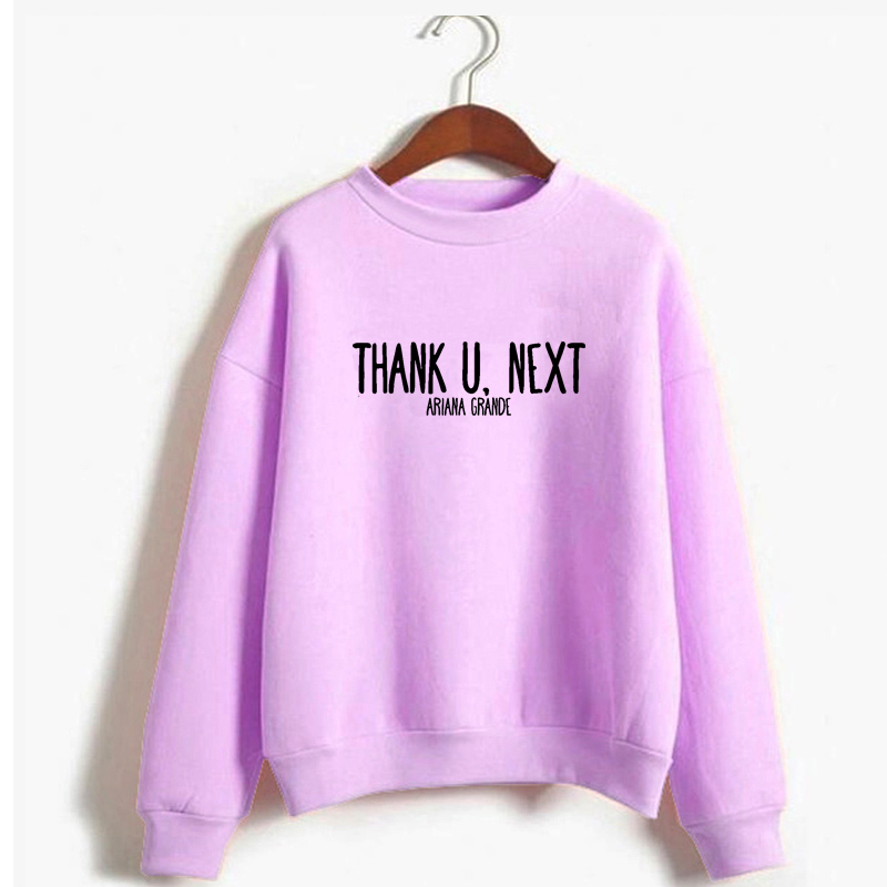 Ariana Grande thank u next sweatshirt women casual letter print jumpers Thank you next Seven Rings Ima Be In Space