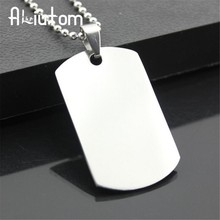 2018 New unique Designer Mens Military Army Style 316L Stainless Steel Dog Tags Chain Mens Pendant Necklace Jewelry Accessories(China)