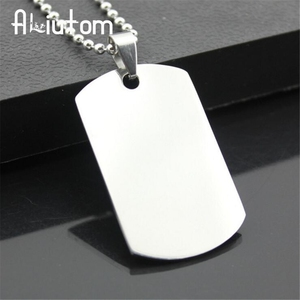2020 New unique Designer Mens Military Army Style 316L Stainless Steel Dog Tags Chain Mens Pendant Necklace Jewelry Accessories