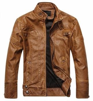Men leather jacket soft PU leather jacket men casual coats man solid color single-breasted autumn winter jacket men