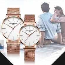 Дропшиппинг Reloj Mujeres модный бренд кварцевые часы мужские пара Водонепроницаемый простое платье часы женские ультра тонкий наручные часы