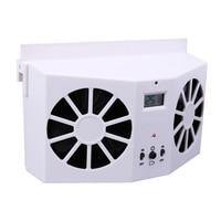Energy Saving Solar Powered Car Interior Auto Air Vent Cool Fan Cooler Ventilation System Enhance Air