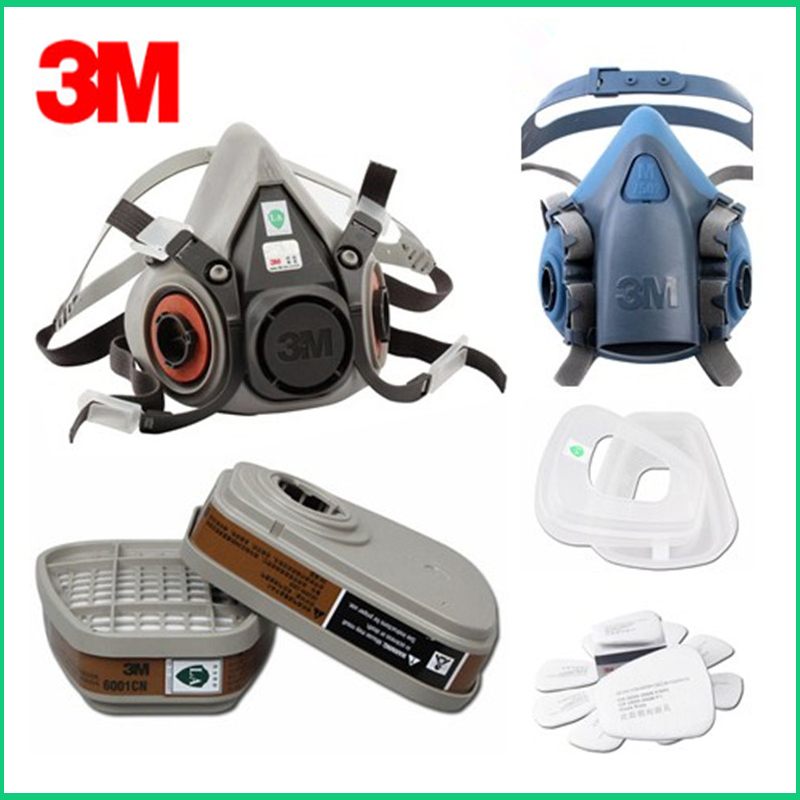 3M 6200/7502 Gas Mask Accessories 6001 Organic Vapor Filter Cartridge 5n11 Cotton Filter And 501 Cover
