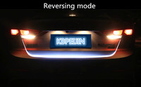 Accessories LED Dynamic Trunk Strip Lighting Rear Tail light Sticker for Ford mondeo kuga fiesta Focus2 3 ecosport car styling