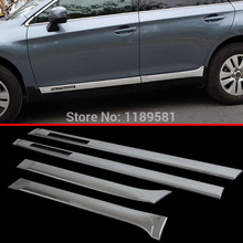 For Subaru Outback 2015 2016 2017 ABS Chrome Side Door Body Molding Moulding Trim