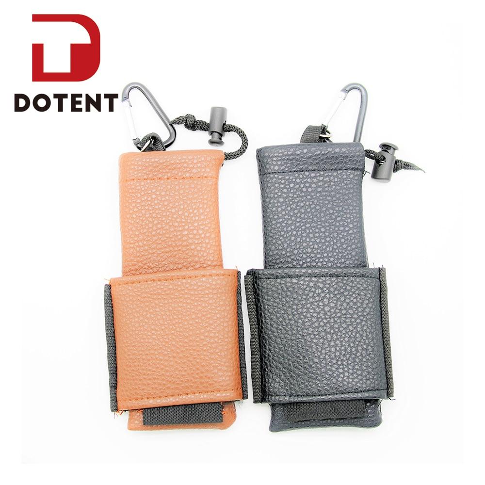 DOTENT Leather Vape Bag Vapor Pocket Case Double Deck Black Brown Electronic Cigarette Accessory for Mechanical Mod